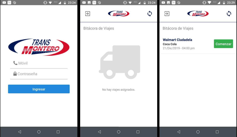 Panel Web / App Android / API REST - Transportes Montero - Imagen 0