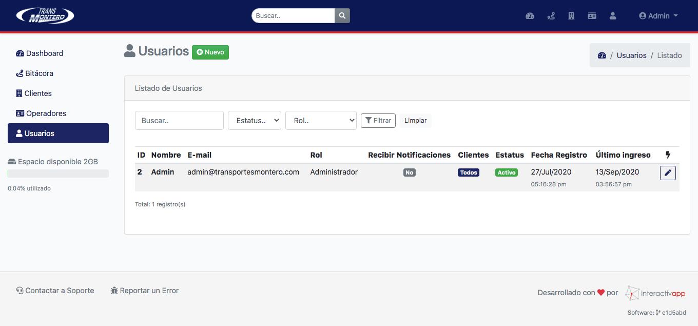 Panel Web / App Android / API REST - Transportes Montero - Imagen 9