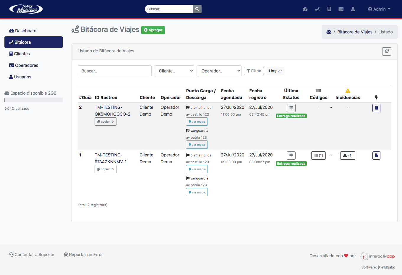 Panel Web / App Android / API REST - Transportes Montero - Imagen 5