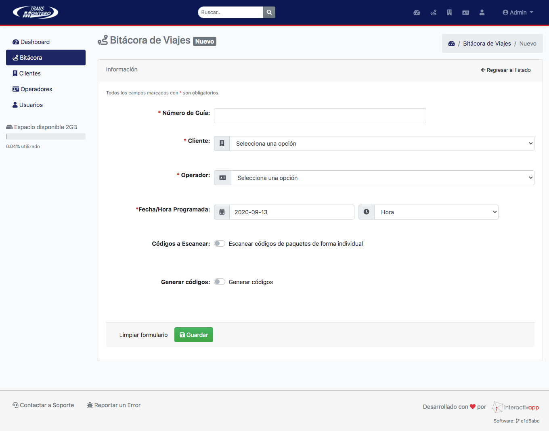 Panel Web / App Android / API REST - Transportes Montero - Imagen 6