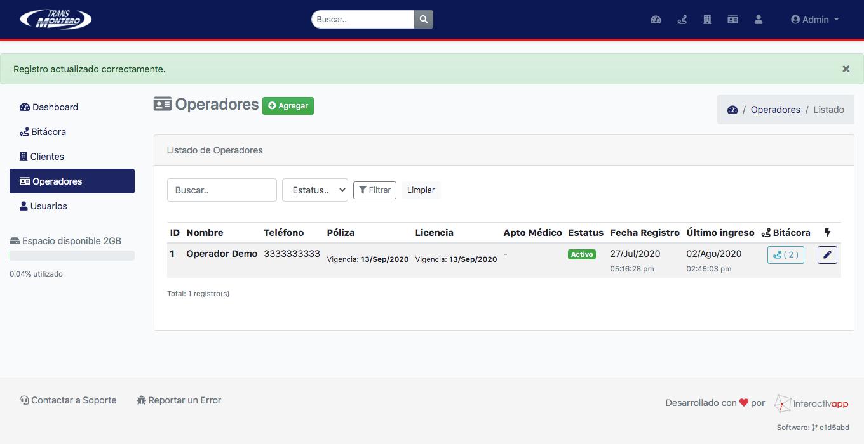 Panel Web / App Android / API REST - Transportes Montero - Imagen 8