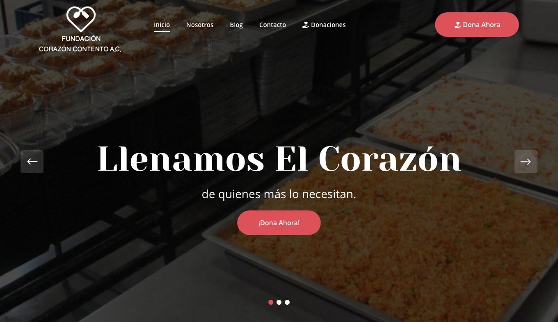 Página Web / Redes Sociales - Fundación Corazón Contento - Imagen 0