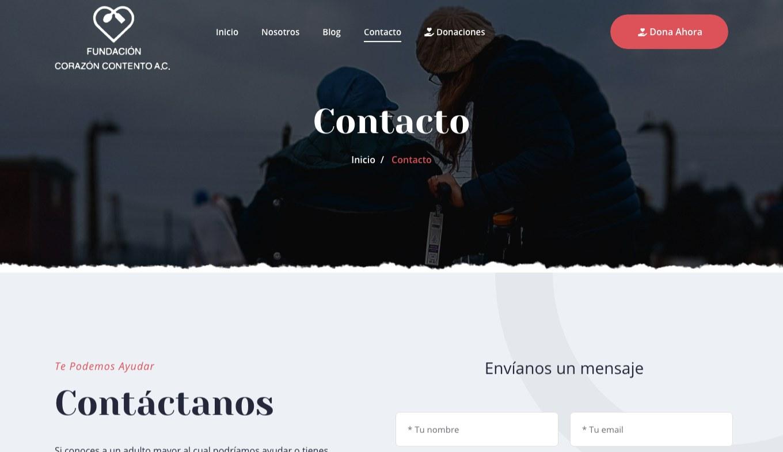 Página Web / Redes Sociales - Fundación Corazón Contento - Imagen 2