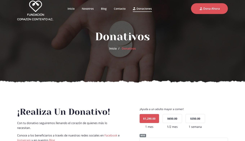 Página Web / Redes Sociales - Fundación Corazón Contento - Imagen 3