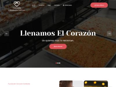 Página Web / Redes Sociales - Fundación Corazón Contento