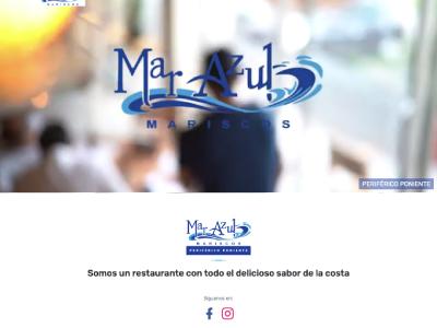 Landing Page / Redes Sociales - Mariscos Mar Azul