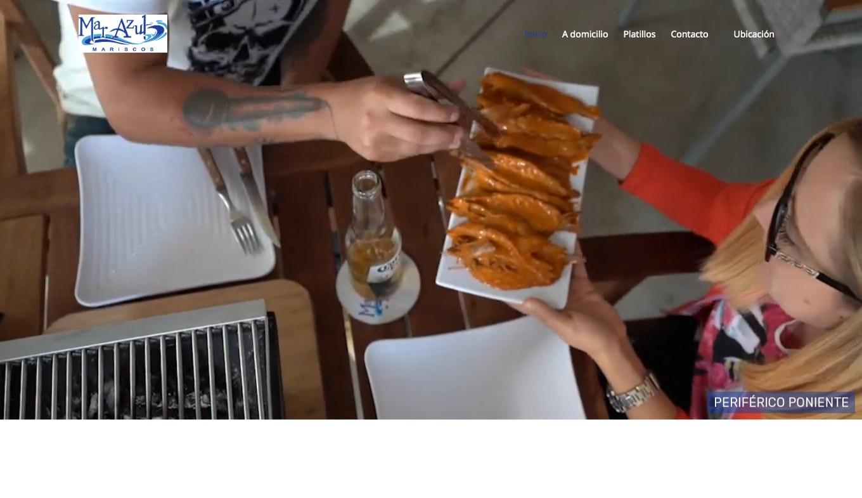 Landing Page / Redes Sociales - Mariscos Mar Azul - Imagen 0