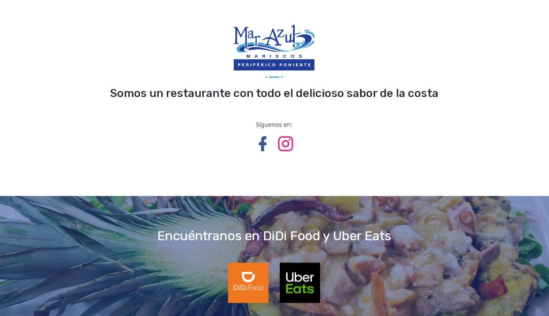 Landing Page / Redes Sociales - Mariscos Mar Azul - Imagen 1