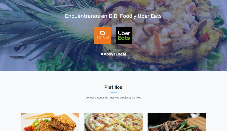 Landing Page / Redes Sociales - Mariscos Mar Azul - Imagen 2