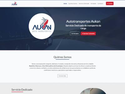 Página Web - Transportes Aukan