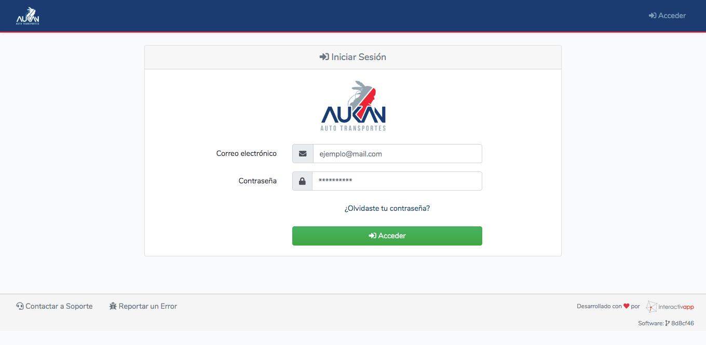 Aplicación Web - Transportes Aukan - Imagen 0