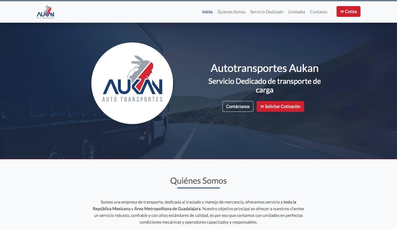 Página Web - Transportes Aukan - Imagen 0