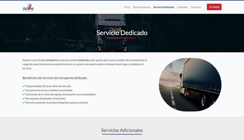 Página Web - Transportes Aukan - Imagen 2