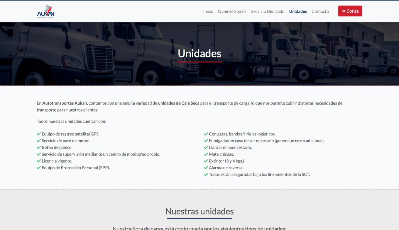 Página Web - Transportes Aukan - Imagen 3